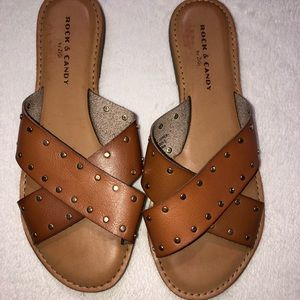 Rock and Candy Slide Sandals NWOT